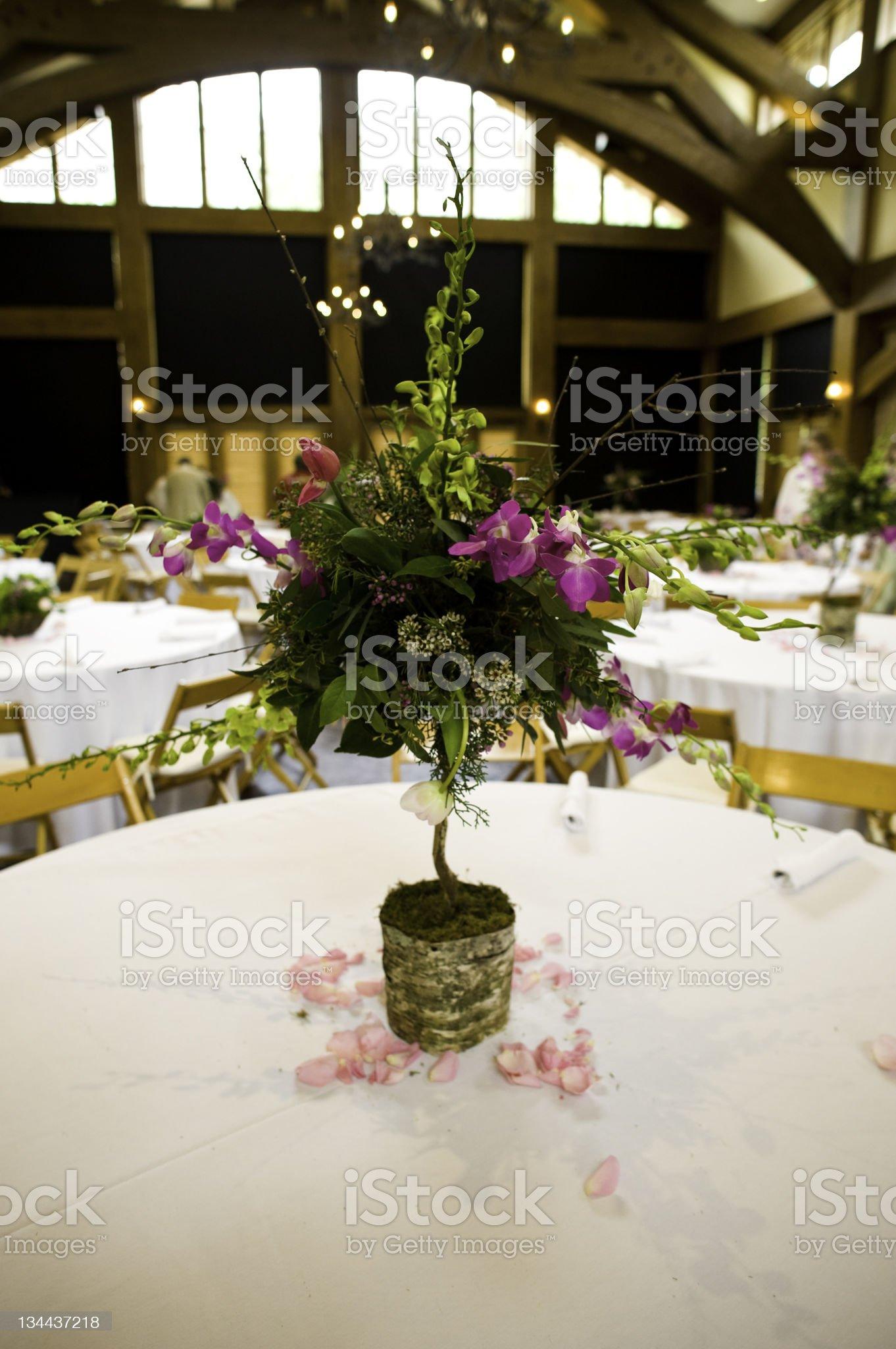Dinner Table Setup at Wedding Reception royalty-free stock photo