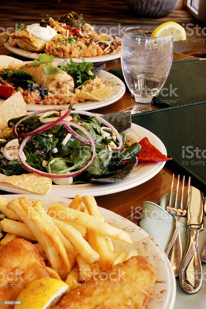 Dinner Variety royalty-free stock photo
