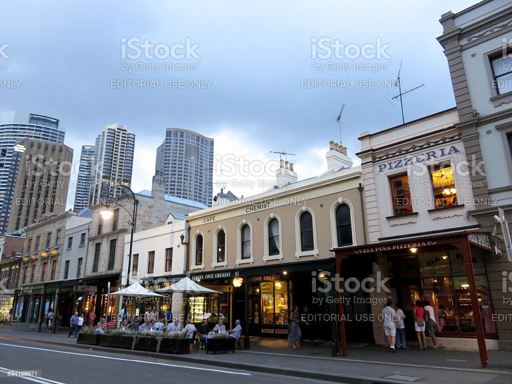 Dinning in The Rocks Sydney stock photo