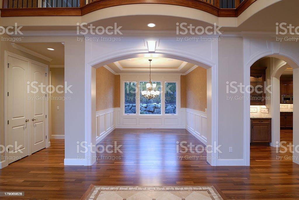 Dinning Room of a New House stock photo