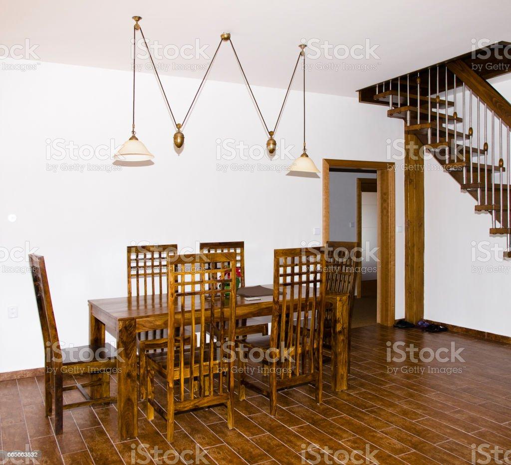 Dinning room stock photo