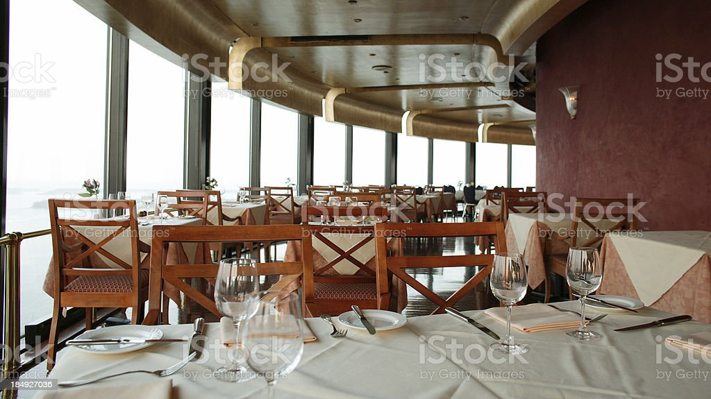 Dinning room with the view royalty-free stock photo