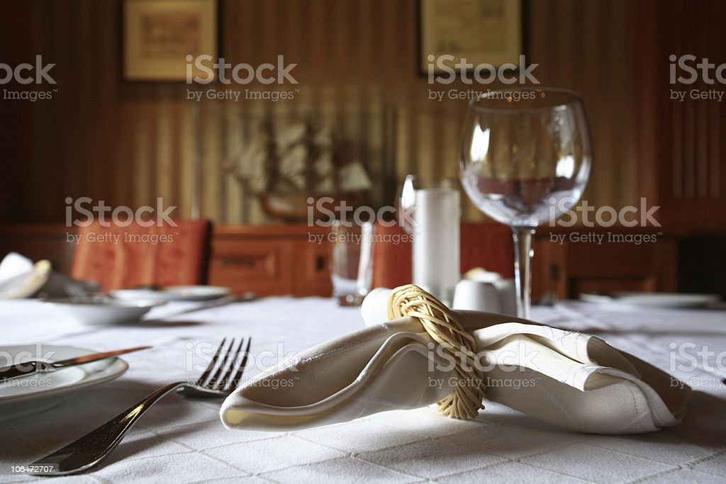 dinning table royalty-free stock photo