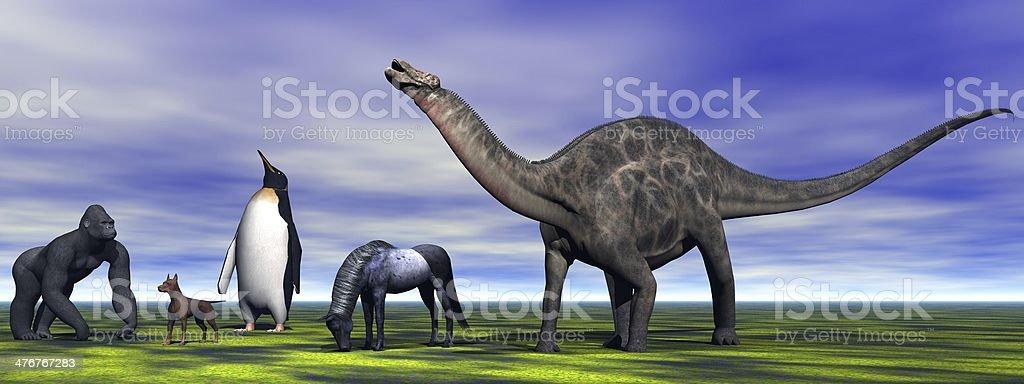 dino Dicraeosaurus royalty-free stock photo