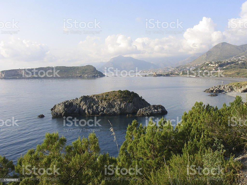 FT - Dino Island from San Nicola Arcella royalty-free stock photo