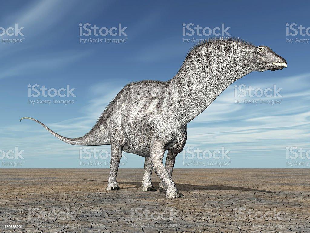 Dinosaur Amargasaurus stock photo