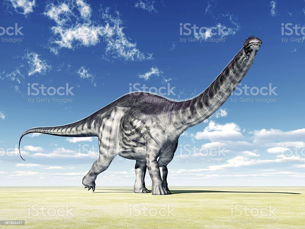 Dinosaur Apatosaurus royalty-free stock photo