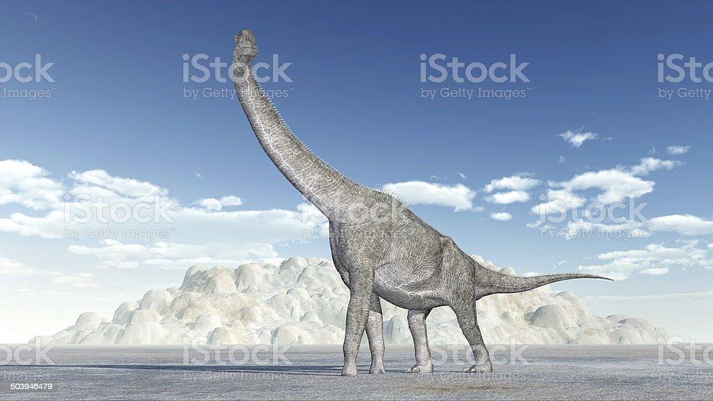 Dinosaur Brachiosaurus stock photo