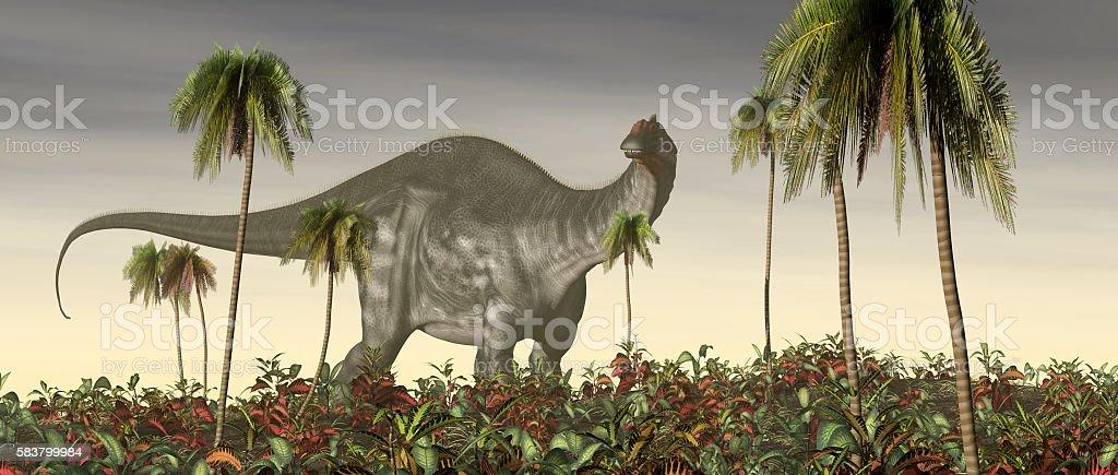 Dinosaur Brontosaurus stock photo