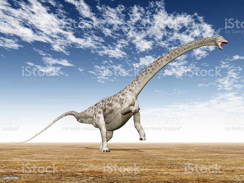 Dinosaur Diplodocus stock photo