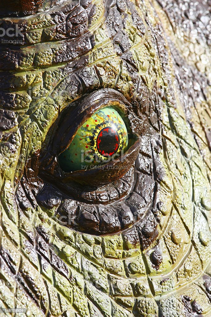 Dinosaur eye stock photo
