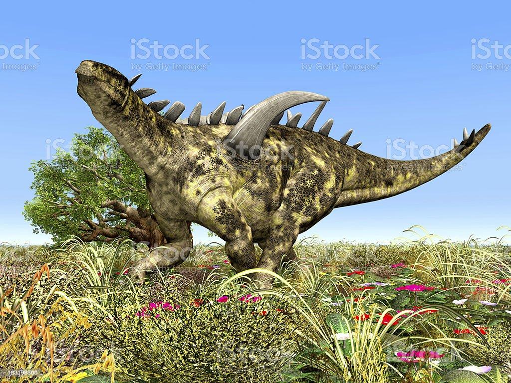 Dinosaur Gigantspinosaurus stock photo