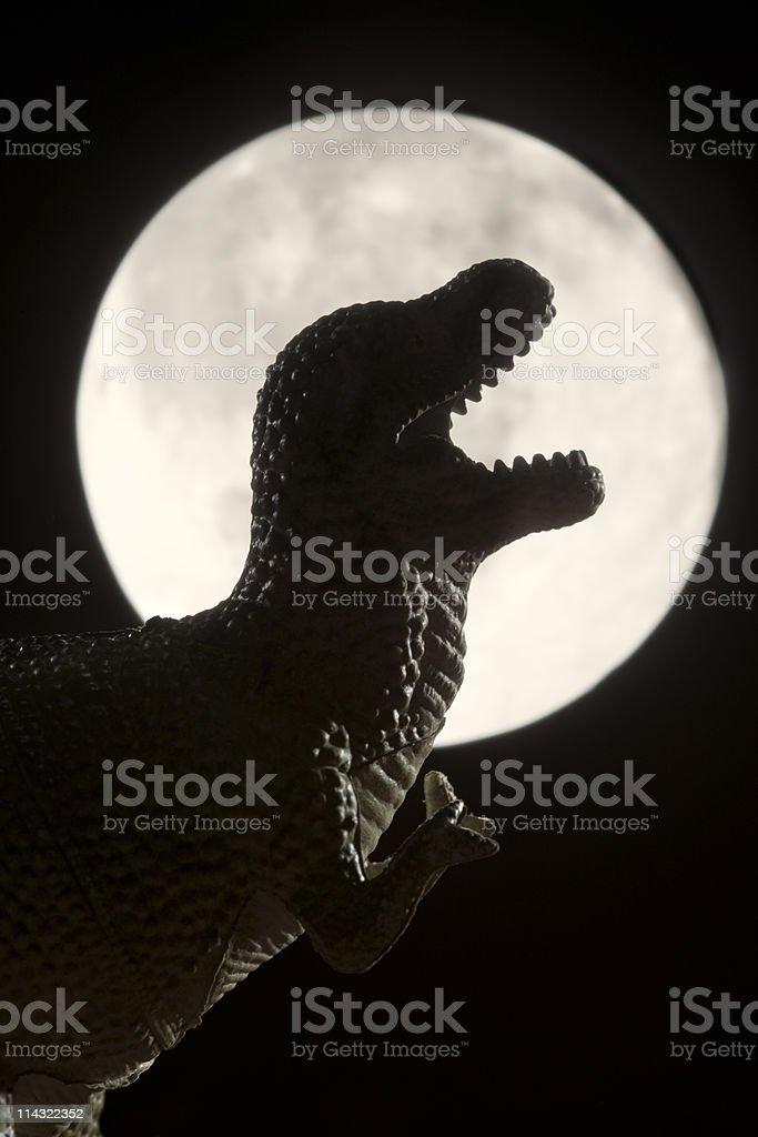 Dinosaur moon royalty-free stock photo