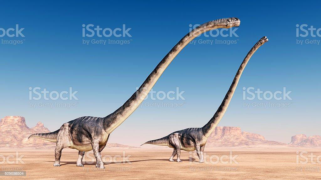Dinosaur Omeisaurus stock photo