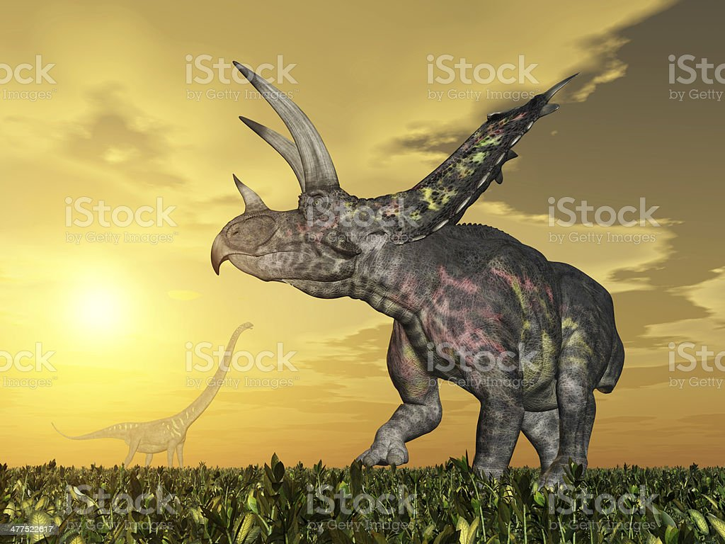 Dinosaur Pentaceratops royalty-free stock photo
