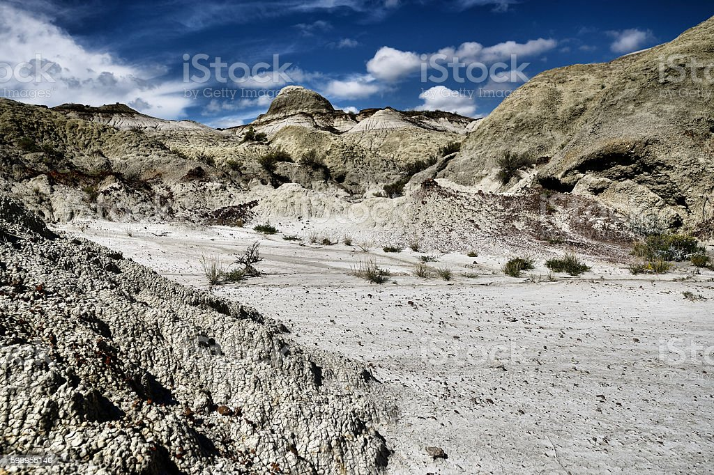 Dinosaur Provincial Park stock photo
