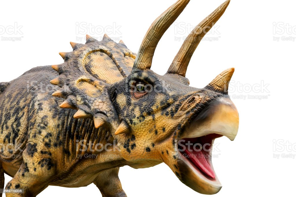Dinosaur triceratops and monster model stock photo