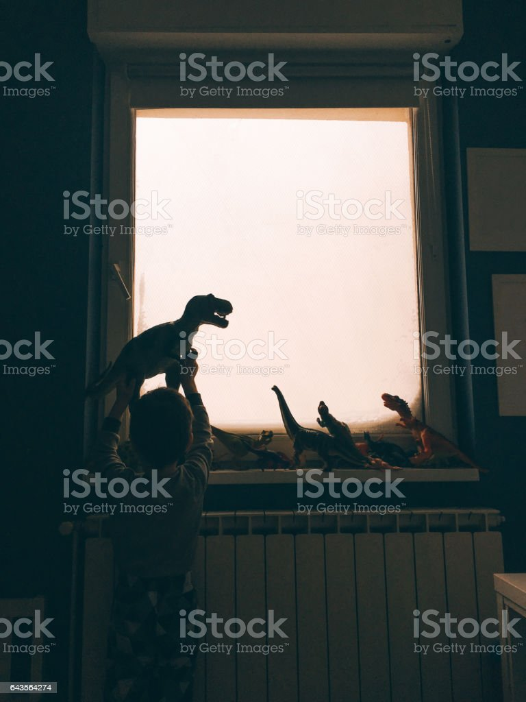 Dinosaurs from my room stock photo