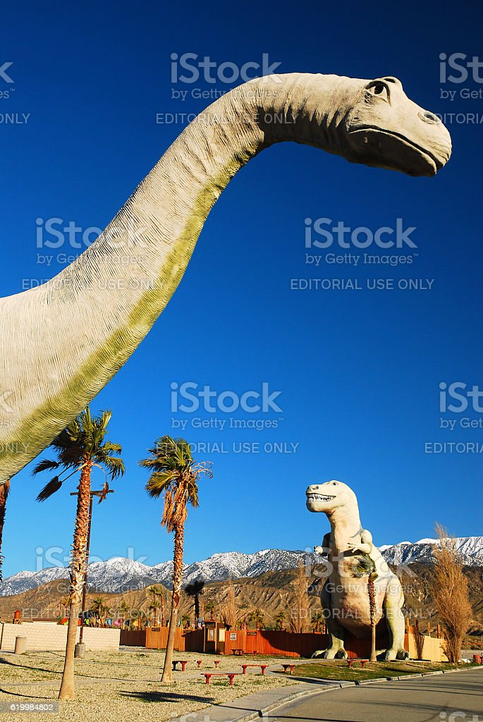 Dinosaurs of Cabazon stock photo