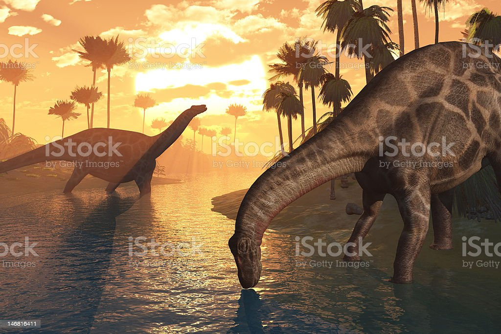 Dinosaurs - The Dawn of Time royalty-free stock photo
