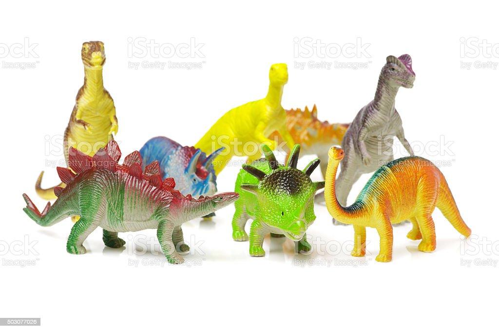 dinosaurs toys stock photo