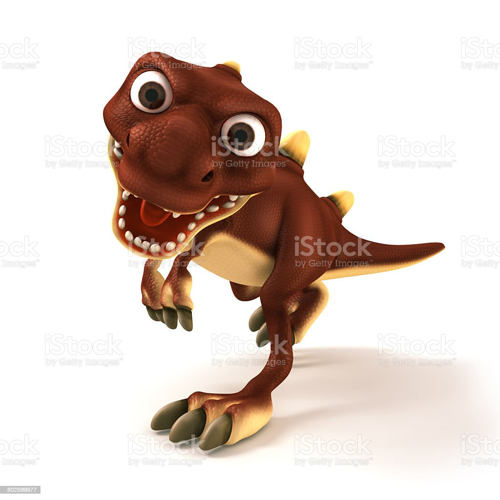Dinosaurus looking mad royalty-free stock photo