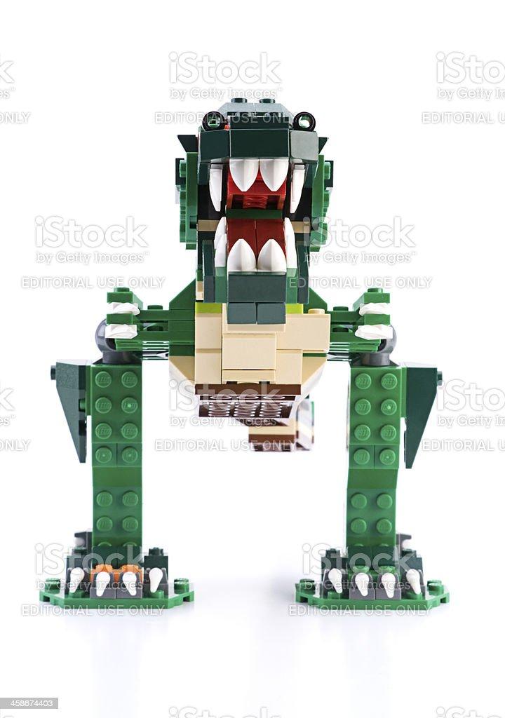 LEGO Dinosaurus royalty-free stock photo
