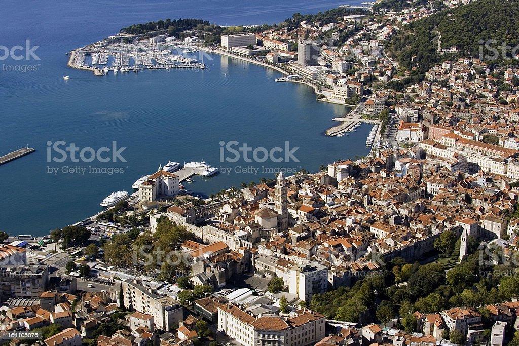 Diocletian palace in Split, Croatia stock photo