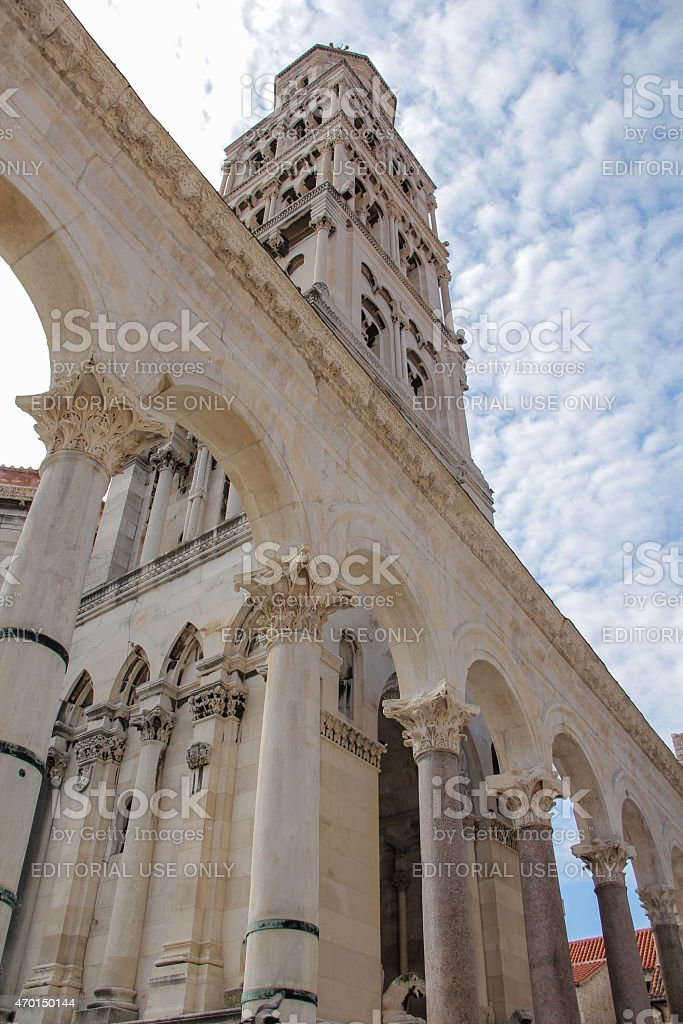 Diocletian Palace under summer sky stock photo