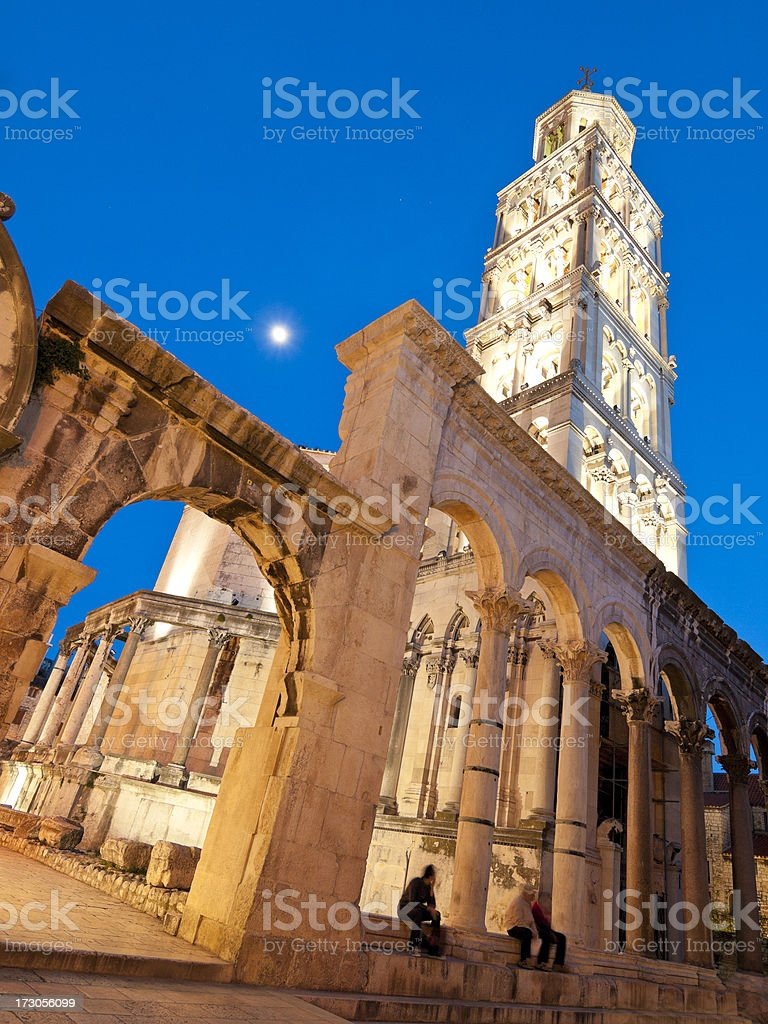 Diocletian's Palace in Split, Croatia stock photo