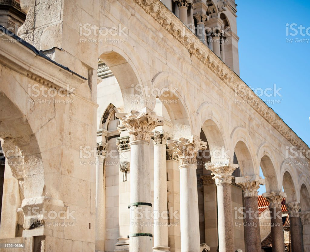 Diocletian's Palace - Split stock photo