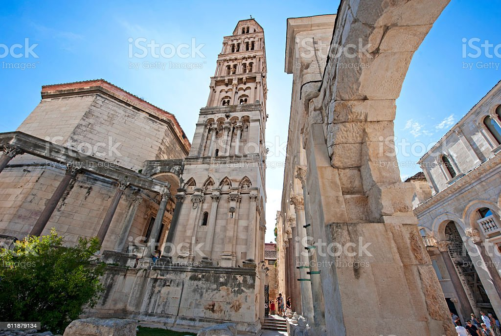 Diocletian's Palace, Split stock photo