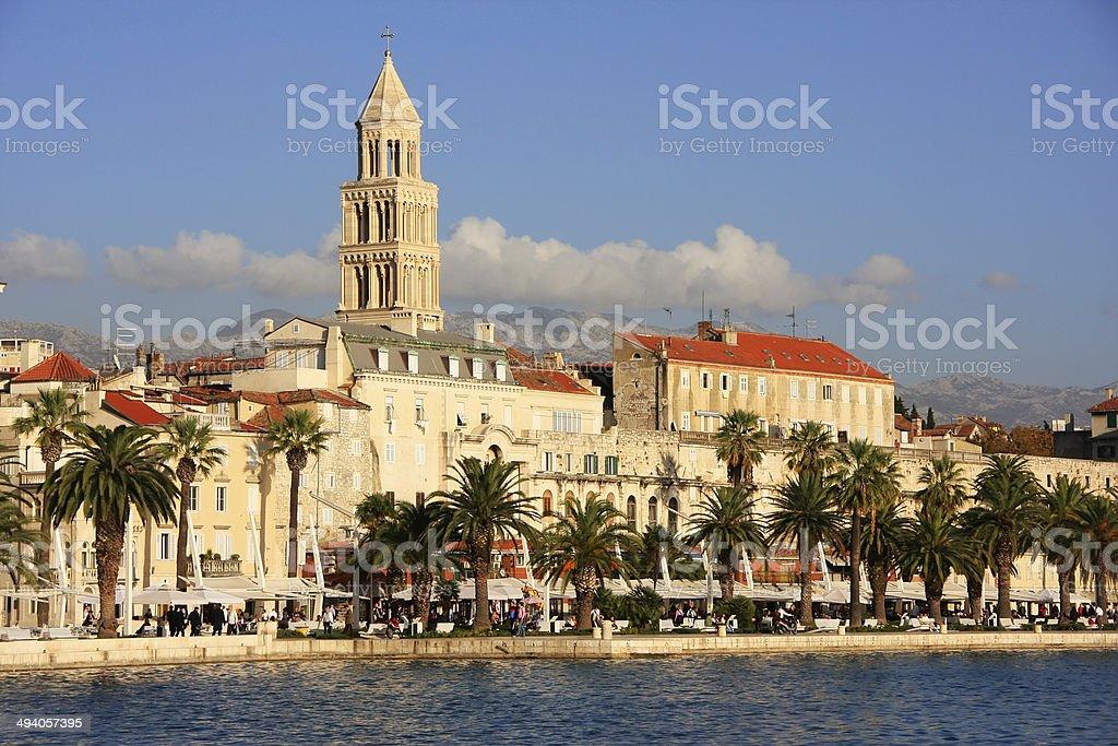 Diocletian's Palace, Split waterfront, Croatia stock photo