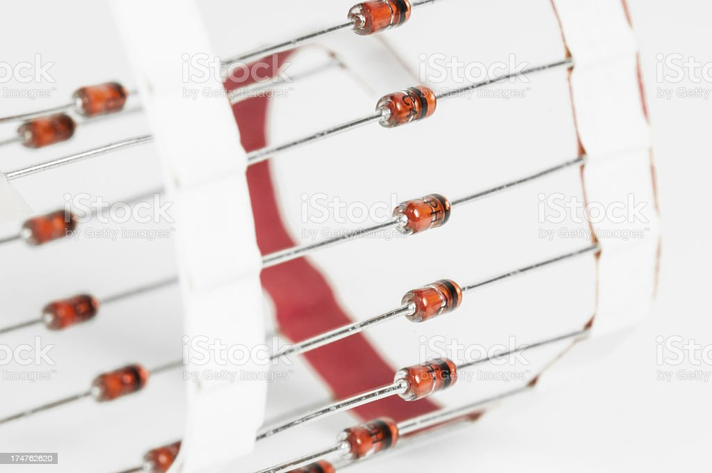 Diode spool royalty-free stock photo