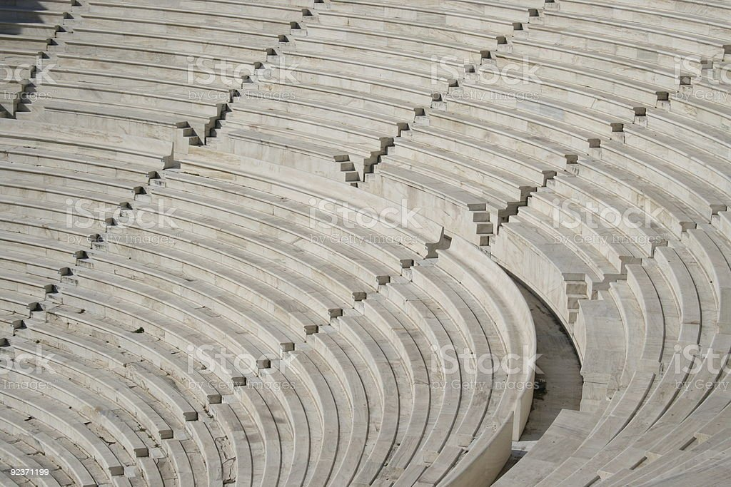 Dionysos Amphitheatre in Greece royalty-free stock photo
