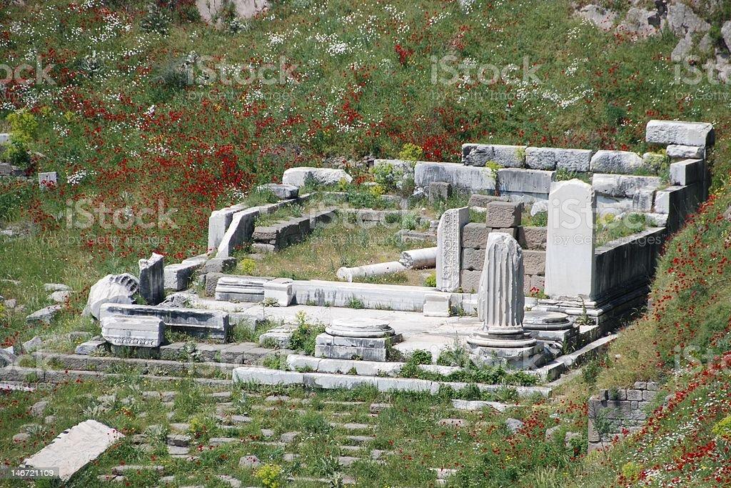 Dionysus Temple in Pergamos stock photo
