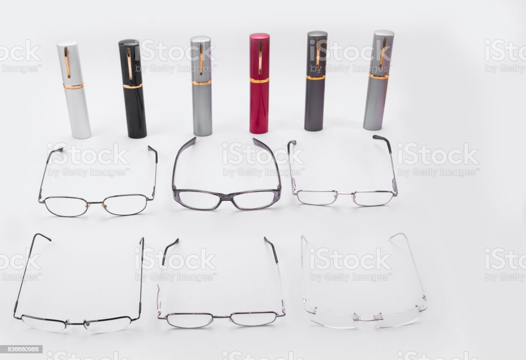 Diopter frames for various vision disordres for men and woman stock photo