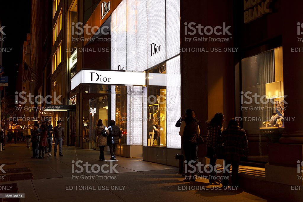 Dior and Other Boutiques 57th Street Manhattan stock photo