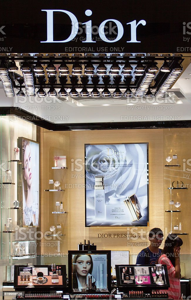 Dior Cosmetic Store in Hong Kong stock photo