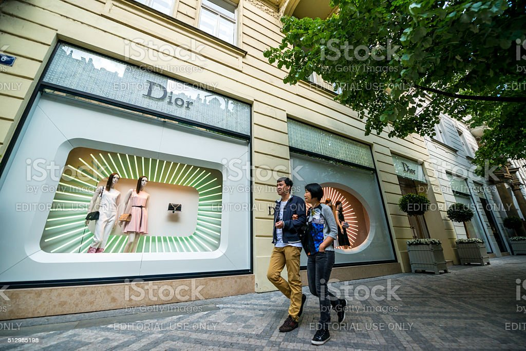 Dior Store in Prague stock photo