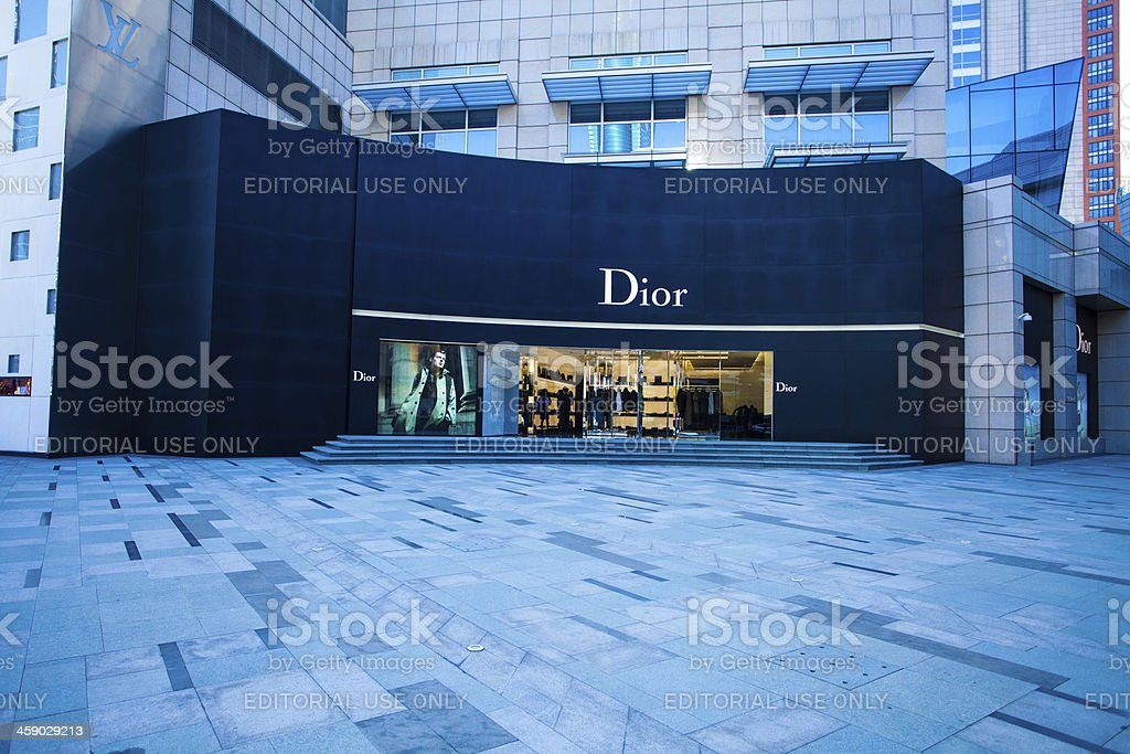 Dior stores in China Shenzhen stock photo