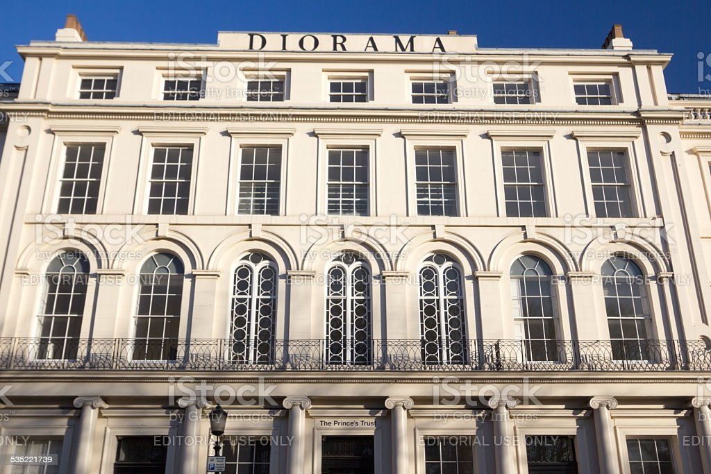 Diorama in Park Square East, London stock photo