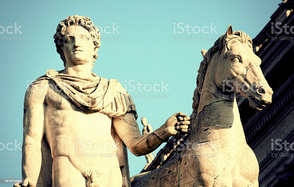 Dioscuri royalty-free stock photo