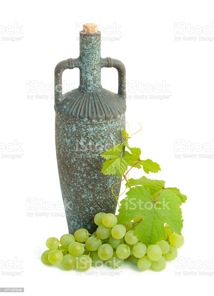 diota and grape cluster royalty-free stock photo