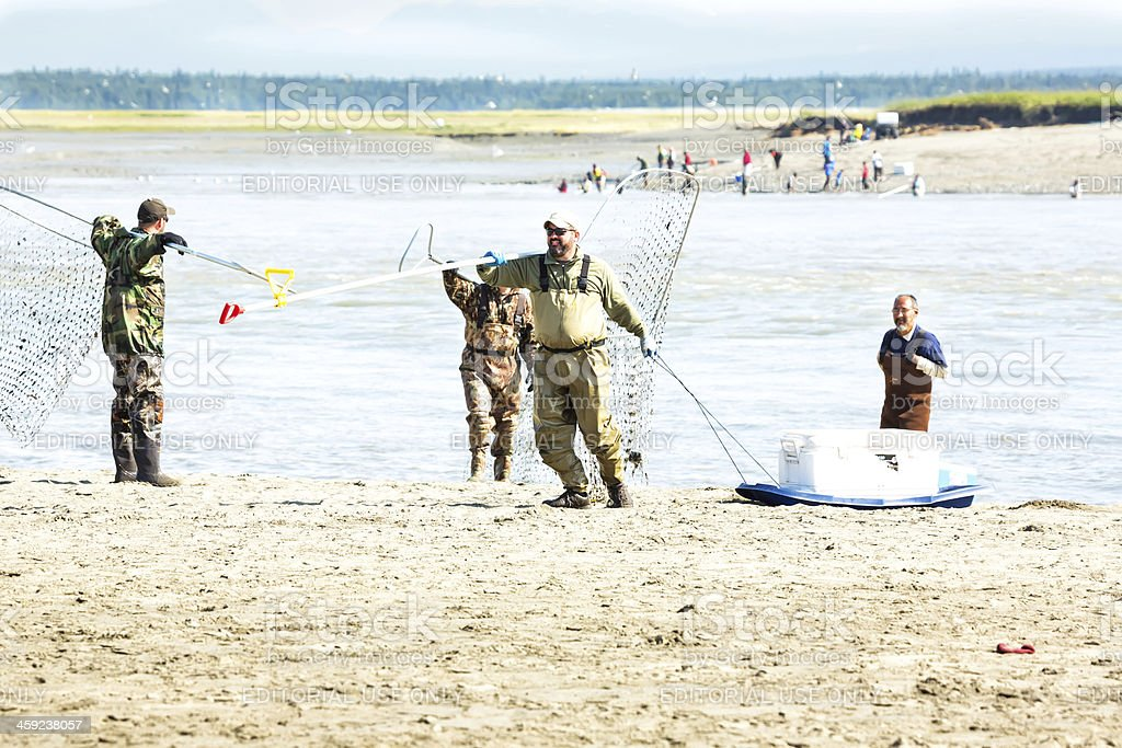 Dip net fishing royalty-free stock photo