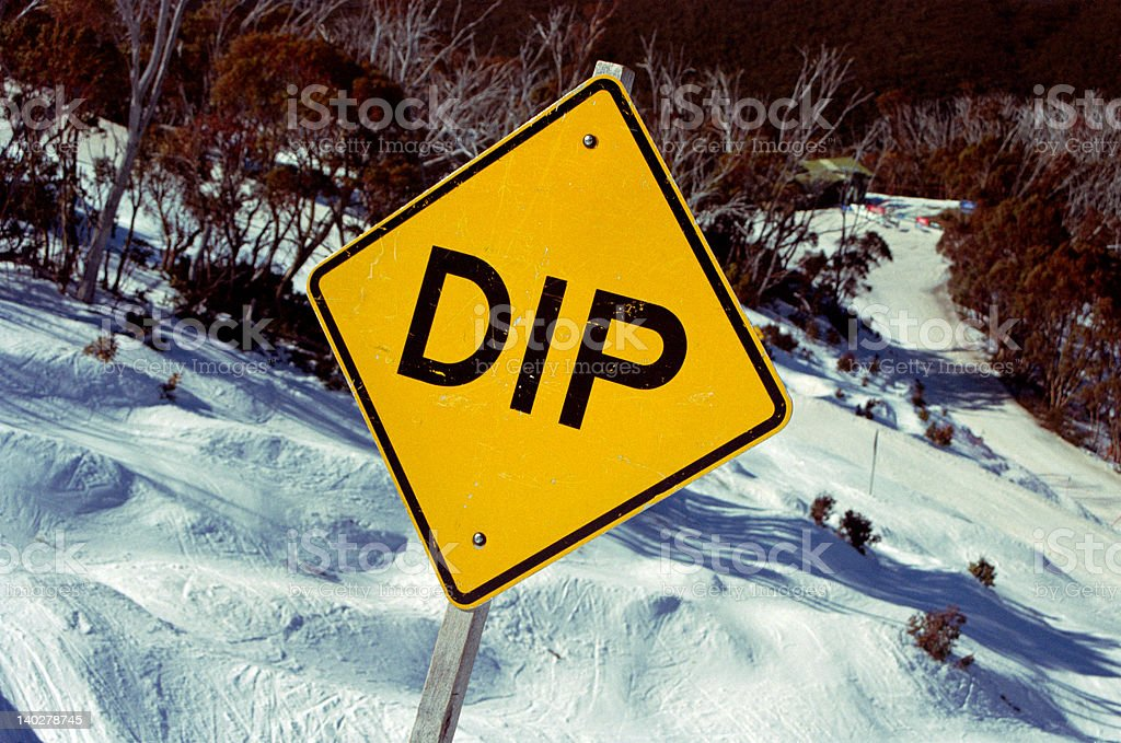 Dip Sign royalty-free stock photo