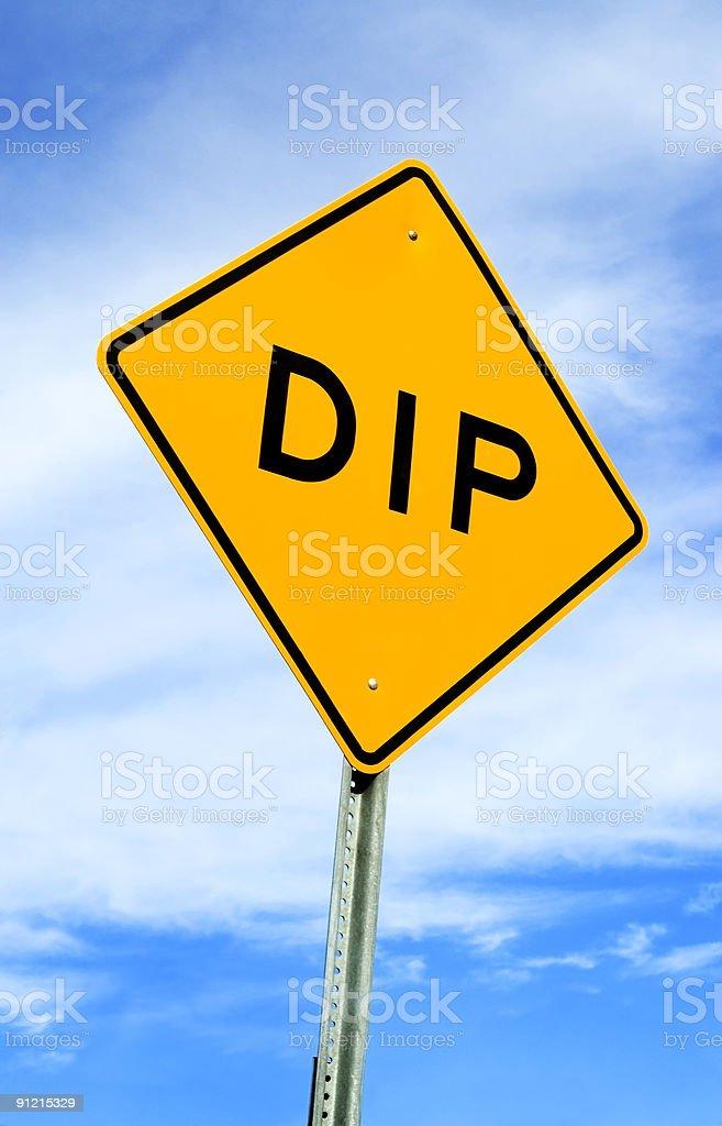 Dip Sign royalty-free stock photo