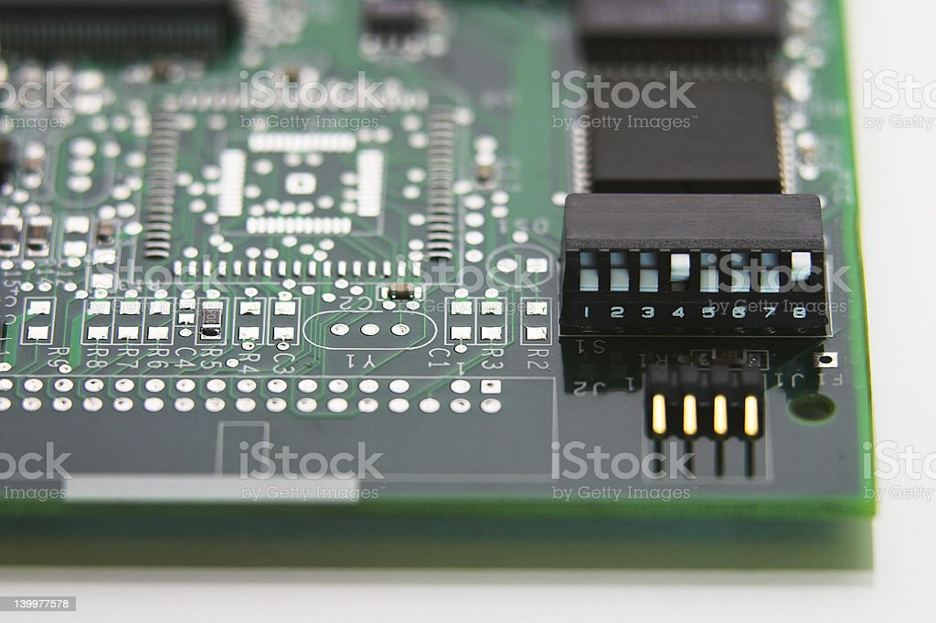 Dip Switch on circuit board royalty-free stock photo