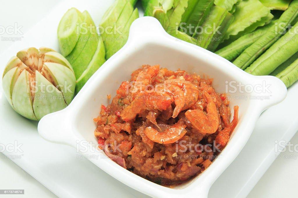Dip with Dried Shrimp Phuket Style stock photo