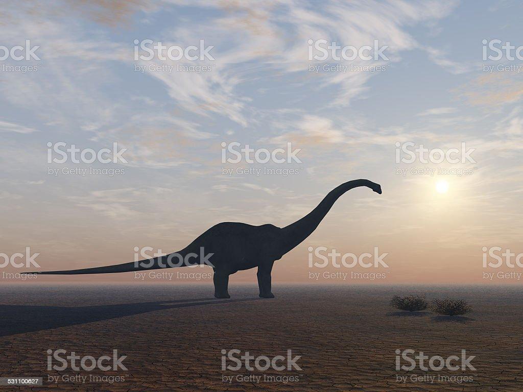 Diplodocus Dinosaur at its End stock photo